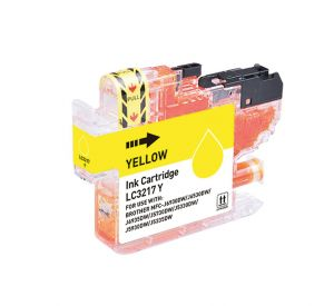 Brother LC-3217Y inktcartridge geel met chip 9ml (huismerk) CBLC-3217Y