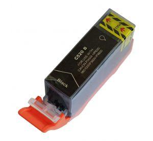 Canon PGI-520Bk inktcartridge zwart met chip 19,4 ml (huismerk) CC-CLI9-520BK-chip
