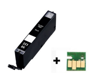 Canon CLI-551Bk XL inktcartridge zwart met chip 12 ml (huismerk) CC-CLI9-551BKc