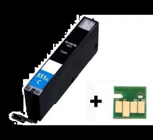 Canon CLI-551C XL inktcartridge cyaan met chip 12 ml (huismerk) CC-CLI9-551Cc