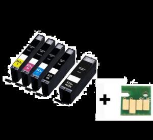 Canon PGI-550XL / CLI-551XL voordeelset 10 stuks met chip (huismerk) zelf samenstellen CC-CLI9b-VP10zelf