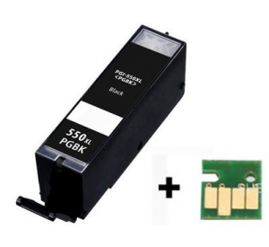 Canon PGI-550BK XL inktcartridge zwart met chip (huismerk) CC-CLI9-550BK