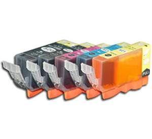 Canon PGI-520 / CLI-521 voordeelset 5 stuks MET CHIP (huismerk) CC-CLI9-VP05c