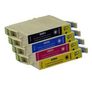 Epson T0551 - T0554 voordeelset 20 cartridges (huismerk) zelf samenstellen EC-T05565zelf