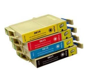 Epson T0611 - T0614 voordeelset 8 cartridges (huismerk) zelf samenstellen EC-T06152zelf