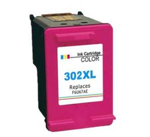 HP 302XL / F6U67AE inktcartridge kleur (huismerk) CHP-302XLK