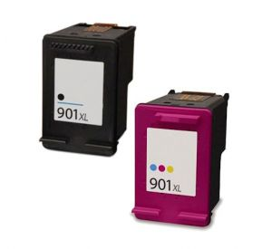 HP 901XL zwart en HP 901XL kleur inktcartridge hoge capaciteit (huismerk) CHP-901XLZ